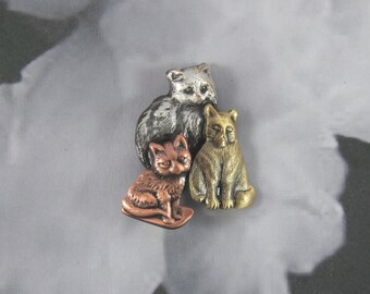 Kitten Brooch- Kitty Jewelry-Cat Lover Gift- Cat rescue
