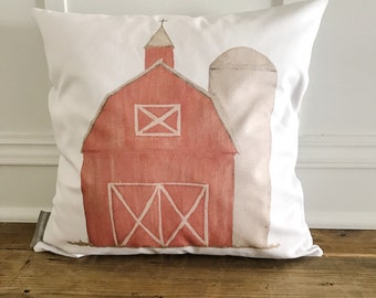 Red Barn Pillow Cover