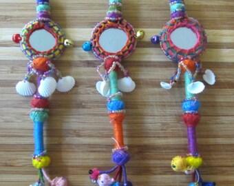 Tassel Mirror Decor Supply Handmade Supply Keychain Decorating Supply Beadwork Supply Tassel Decor Gypsy Accessories Bohemian Fashion