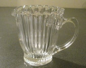 Art Deco Glass Sugar Bowl and Creamer