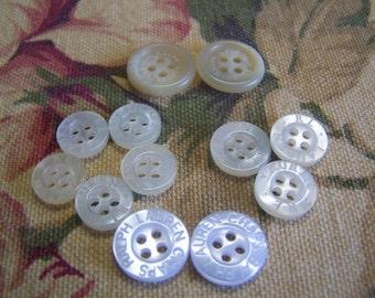 """12 """"Ralph Lauren"""" Name Brand Buttons,  Odd Lot of 12 (4 Sets) (041,046,054,076)"""