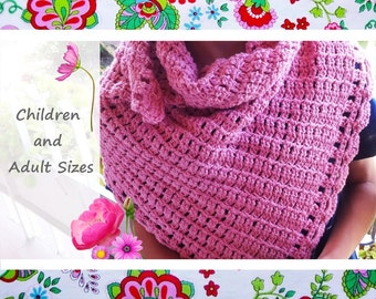Easy Shawl-Children and Adult Sizes
