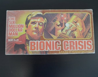 Vintage 1976 Bionic Crisis Parker Brothers Board game - See all of our vintage games