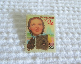 Wizard of Oz Postage Stamp Pin, Epoxied Stamp Pin