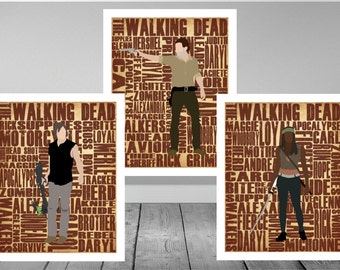 The Walking Dead Minimalist Print Set