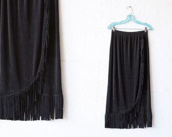 90's Fringe Maxi Skirt