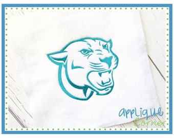 INSTANT DOWNLOAD 2615 Panther Cougar Filled Embroidery Design in digital format for embroidery machine by Applique Corner