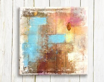 Home decor - Pastel colors on canvas - Abstract canvas art - Wedding gift idea