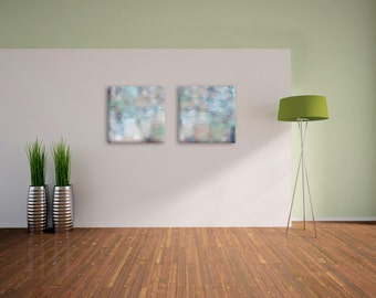 Collection of 2 square abstract art prints on canvas - Home decor