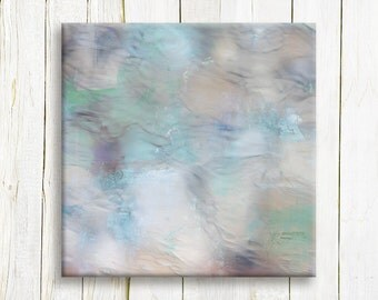 Pastel contemporary art print on canvas - Square Abstract Art Print on canvas - Housewarming gift