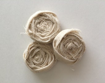 Rustic fabric flowers -  shabby chic flower- craft supplies flower - wedding supplies - shabby chic flowers