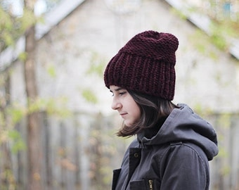 super chunky knitted hat, adult or teen CHOOSE YOUR COLOR