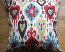 Fall Ikat Floor Pillow Cover, 26x26 Large Pillow Cover,