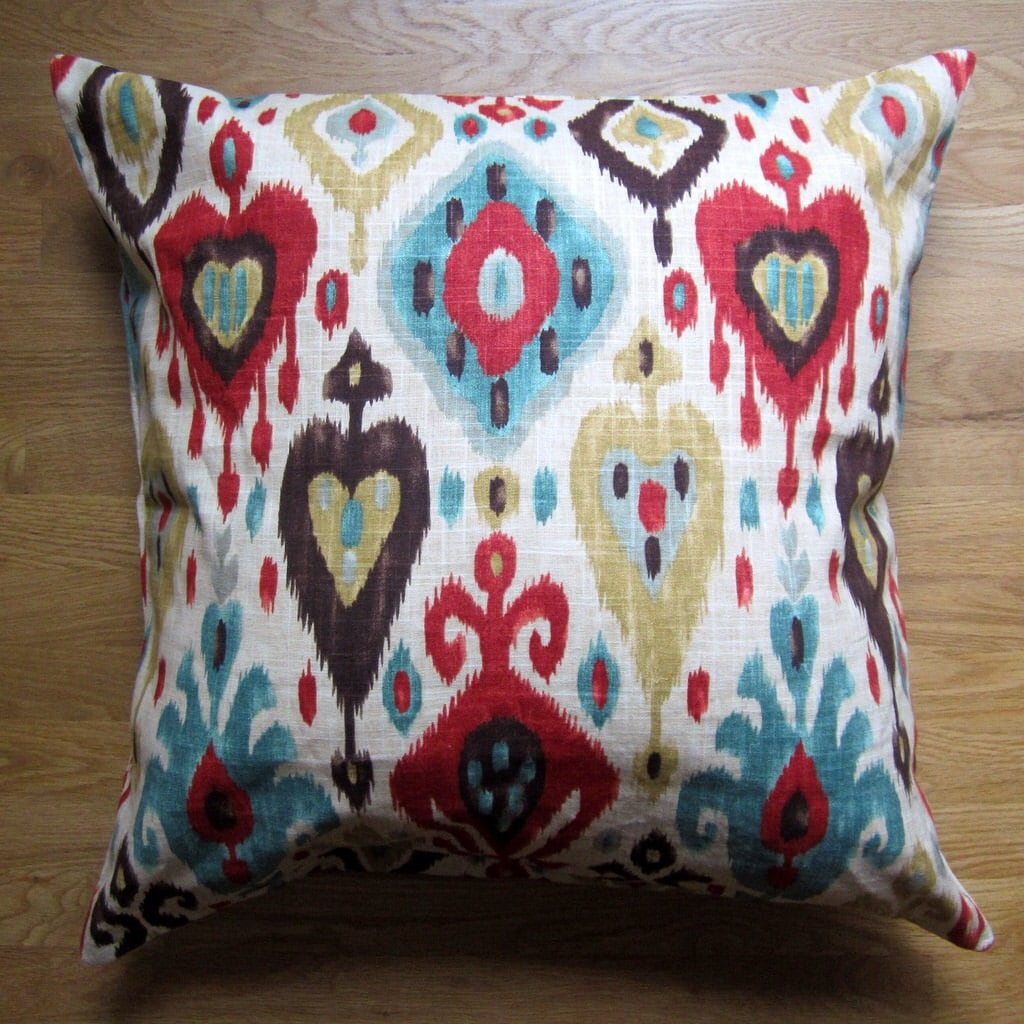 Large Decorative Pillows Floor : Ikat Floor Pillow Cover 26x26 Large Pillow Cover Decorative