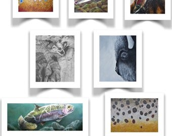 Wild Life Greeting Cards (Variety Pack #2)