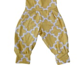 Yellow and White Baby Toddler Harem Pants