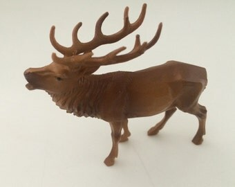 Miniature Buck Stag Deer Collectible Figurine Craft Project Supply Dollhouse Shadowbox
