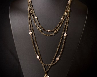 Art Deco Inspired Chain Necklace
