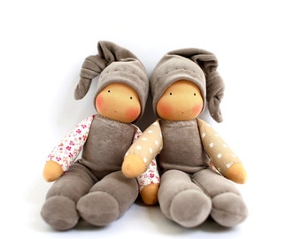 cuddle doll/ cinder, 13 inch, soft doll, waldorf doll, steiner doll,