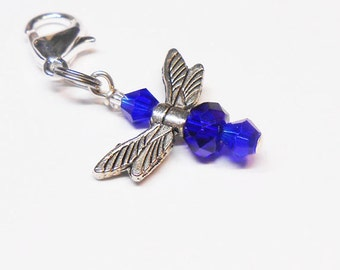 Zipper Pull, Key Chain Charms, Dragonfly Charmed Zipper Pull Charm, Purse Charm, Key Charms, Backpack Pull