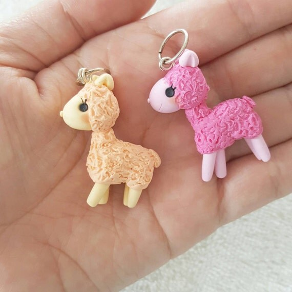 Llama Necklace, Llamas, Polymer Clay Pendant, Necklace, Cosplay, polymer clay, clay pendant, Kawaii, Miniature doll, Chibi, Anime, Fanart