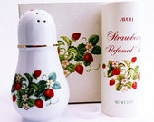 Vintage AVON Strawberry Porcelain Sugar Shaker