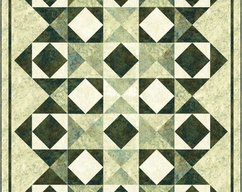Diamond Mine Quilt Pattern Northcott Chips or Tile Squares. Lap and Queen included Easy