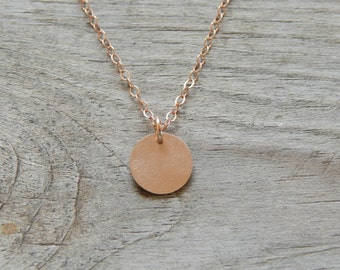Rose Gold Disc necklace, Monogram rose gold necklace, Personallized  necklace, Initial rose gold necklace by viartvi
