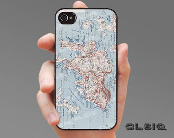 Vintage Hong Kong Map Case for iPhone 6/6S, 6+/6+S, 5/5S, 5C, 4/4S, iPod Gen 5, Samsung Galaxy S6, Galaxy S5, Galaxy S4, Galaxy S3
