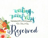 Reserved Watercolor Logo