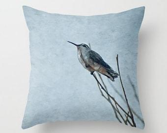 Small Throw Pillow Resting Hummingbird