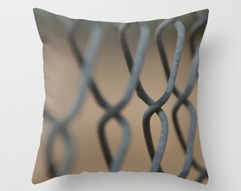 Large Throw Pillow Chain Link Fence