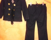 AnTiQuE / HisToRiCaL WWI WooL US NaVy OFFiCeRs UniForM BoYS OuTFiT