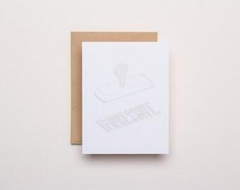 Impressive Blind Impression Card - Letterpress Card