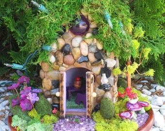 Enchanting .........Fairy Rock House in the Wood.........OOAK