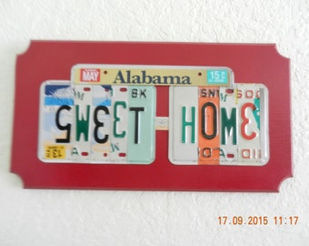 Sweet Home Alabama License Plate Sign (Made to Order)
