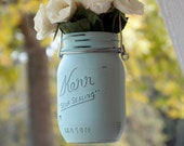 Hanging Painted Mason Jars Gift for Her Home Decor Outdoor Vase Planter Lantern