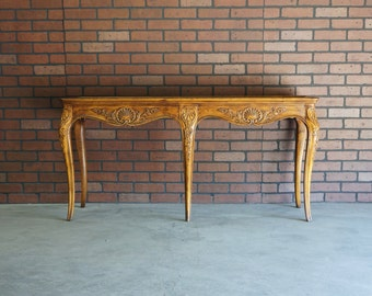 Console Table / Sofa Table / French Provincial Console / Country French Sofa Table by Henredon