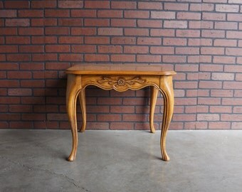 End Table / French Provincial End Table  Country French Table / Accent Table by Drexel Heritage ~ Paint To Order ~