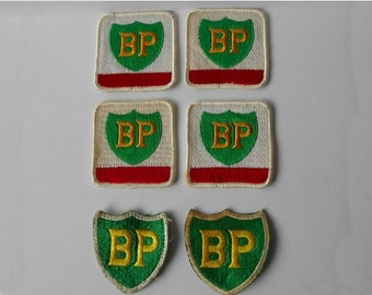 Vintage BP embroidered patches Petroliana