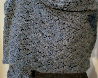Lace Shawl Handspun and Knitted Custom Order