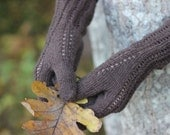 Hand Knitted Gloves, dark brown  Elegant Arm Warmers Gloves With Fingers, For Her, Gift Ideas, Winter Accessories, Fall Fashion Trends