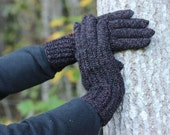 Hand Knitted Gloves, dark blue Elegant Arm Warmers Gloves With Fingers, For Her, Gift Ideas, Winter Accessories, spring Fashion Trends