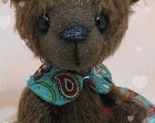 "5 1/2"" Handmade Artist Bear Ornament TALIA by Warm Heart Bears"
