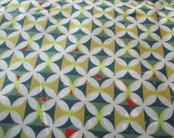 Quilting Weight Cotton Fabric Barcelona by Zen Chic for Moda in Teal Multi 1 yard