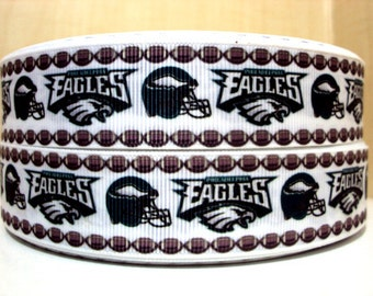 "7/8"" Philadelphia Eagles ribbon - 3 yards"