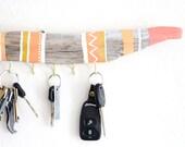 Painted Driftwood Tribal Boho Jewelry Rack / Key Rack / Keyrack Vancouver Island