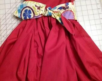 Girl's Dress Asian Style Print