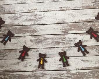 Bears, teddy bears, bear banner, teddy bear banner, bear garland, teddy bear garland, bunting, boys, boy banner, nursery room