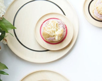 Black, Pink, Clear, Sparkle, Variety of Wooden Plates By Willful, tabletop, modern living, serving plates
